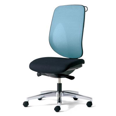 giroflex ジロフレックス 353 パソコンチェア ハイバック PCチェア ワークチェア 仕事用チェア デスクチェア 後傾姿勢 デスクワークにおすすめ 疲れにくい 椅子 chair オフィス 肘なし ハンガー付き アルミ脚 ライトブルー 水色 353-4028RSH LB