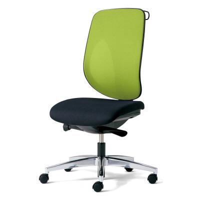 giroflex ジロフレックス 353 パソコンチェア ハイバック PCチェア ワークチェア 仕事用チェア デスクチェア 後傾姿勢 デスクワークにおすすめ 疲れにくい 椅子 chair オフィス 肘なし ハンガー付き アルミ脚 イエローグリーン 黄緑 353-4028RSH YG