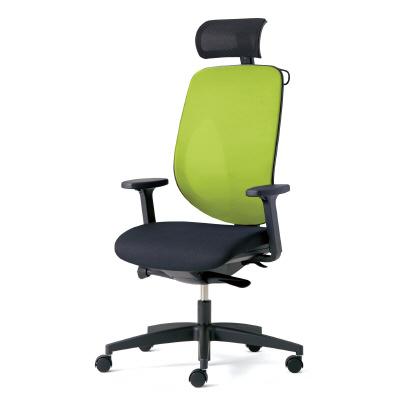 giroflex ジロフレックス 353 ハイバック PCチェア ワークチェア 仕事用チェア デスクチェア 後傾姿勢 デスクワークにおすすめ 疲れにくい オフィス アジャスト肘付き ヘッドレスト付き ハンガー付き 樹脂脚 イエローグリーン 黄緑 353-9029RSH YG