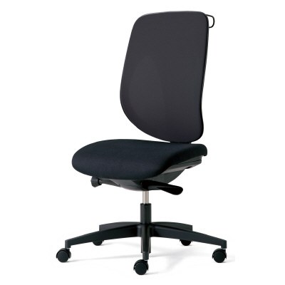 giroflex ジロフレックス 353 パソコンチェア ハイバック PCチェア ワークチェア 仕事用チェア デスクチェア 後傾姿勢 デスクワークにおすすめ 疲れにくい チェア 椅子 chair オフィス 肘なし ハンガー付き 樹脂脚 ブラック 黒 353-4029RSH BK
