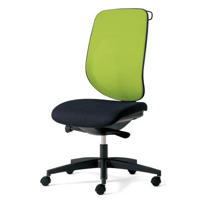 giroflex ジロフレックス 353 パソコンチェア ハイバック PCチェア ワークチェア 仕事用チェア デスクチェア 後傾姿勢 デスクワークにおすすめ 疲れにくい 椅子 chair オフィス 肘なし ハンガー付き 樹脂脚 イエローグリーン 黄緑 353-4029RSH YG