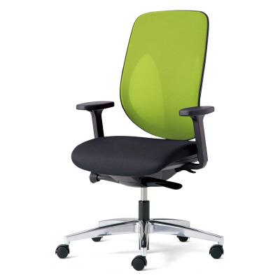giroflex ジロフレックス 353 パソコンチェア ハイバック PCチェア ワークチェア 仕事用チェア デスクチェア 後傾姿勢 デスクワークにおすすめ 疲れにくい チェア 椅子 chair オフィス アジャスト肘付き アルミ脚 イエローグリーン 黄緑 353-8028RS YG