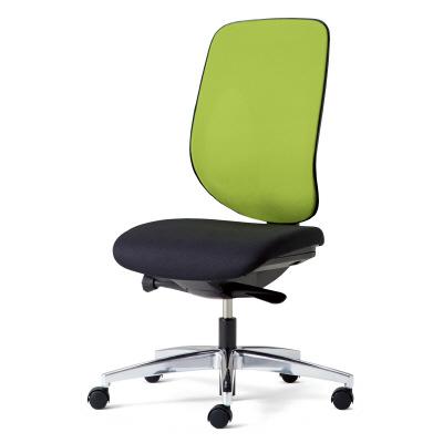 giroflex ジロフレックス 353 パソコンチェア ハイバック PCチェア ワークチェア 仕事用チェア デスクチェア 後傾姿勢 デスクワークにおすすめ 疲れにくい チェア 椅子 chair オフィス 肘なし アルミ脚 イエローグリーン 黄緑 353-4028RS YG