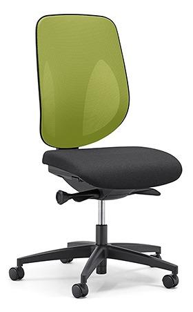 giroflex ジロフレックス 353 パソコンチェア ハイバック PCチェア ワークチェア 仕事用チェア デスクチェア 後傾姿勢 デスクワークにおすすめ 疲れにくい チェア 椅子 chair オフィス 肘なし 樹脂脚 イエローグリーン 黄緑 353-4029RS YG