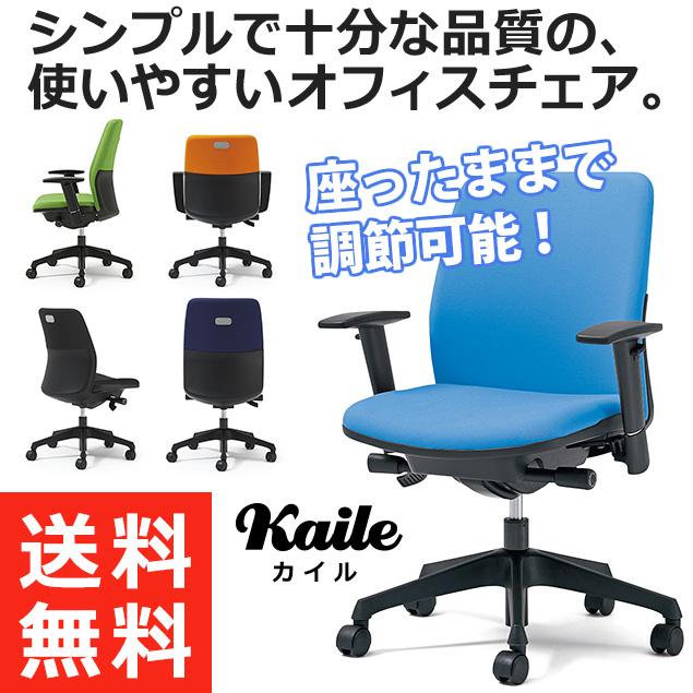 PLUS プラス カイルチェア Kaileチェア パソコンチェア PCチェア オフィスチェア デスクチェア 事務イス 事務椅子 学習チェア 勉強椅子 シンプル 椅子 イス チェア chair キャスター付き 疲れにくい ローバック アジャスト肘 水色  KD-HL66SL LB