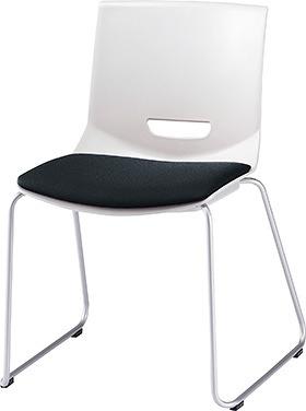 PLUS プラス チェアUB ミーティングチェア ミーティング室 会議室 会議イス 会議椅子 会議用椅子 スタッキングチェア スタッキング 椅子 イス いす チェア chair CHAIR 持ち運びしやすい 背スリット ループ脚 肘なし ブラック 黒 MC-UB01