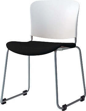 PLUS プラス フィトナ ミーティングチェア ミーティング室 会議椅子 会議用椅子 スタッキングチェア 打ち合わせ 会議用チェア ミーティングルーム 持ち運びやすい 会議室 談話室 椅子 イス チェア chair スタッキング ループ脚 黒 ブラック MB-F60SEH