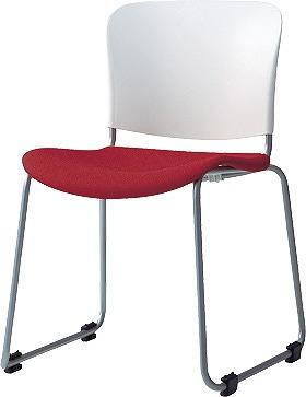 PLUS プラス フィトナ ミーティングチェア ミーティング室 会議椅子 会議用椅子 スタッキングチェア 打ち合わせ 会議用チェア ミーティングルーム 持ち運びやすい 会議室 談話室 椅子 イス チェア chair スタッキング ループ脚 赤 レッド MB-F60SEH