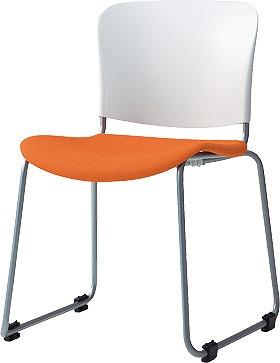 PLUS プラス フィトナ ミーティングチェア ミーティング室 会議椅子 会議用椅子 スタッキングチェア 打ち合わせ 会議用チェア ミーティングルーム 持ち運び 会議室 談話室 椅子 イス チェア chair スタッキング ループ脚 橙 オレンジ MB-F60SEH