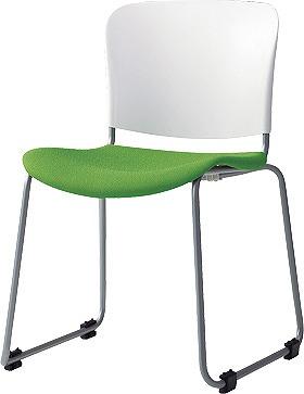 PLUS プラス フィトナ ミーティングチェア ミーティング室 会議椅子 会議用椅子 スタッキングチェア 打ち合わせ 会議用チェア ミーティングルーム 持ち運び 会議室 談話室 椅子 イス チェア chair スタッキング ループ脚 イエローグリーン MB-F60SEH