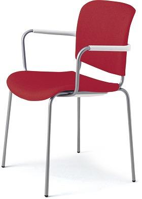 PLUS プラス フィトナ ミーティングチェア ミーティング室 会議椅子 会議用椅子 スタッキングチェア 打ち合わせ 会議用チェア ミーティングルーム 持ち運び 会議室 談話室 椅子 イス チェア chair スタッキング 4本脚 肘付き 赤 レッド MB-F62SE