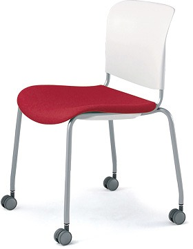 PLUS プラス フィトナ ミーティングチェア ミーティング室 会議椅子 会議用椅子 スタッキングチェア 打ち合わせ 会議用チェア ミーティングルーム 持ち運び 会議室 談話室 椅子 イス チェア chair スタッキング キャスター付き 赤 レッド MB-F63SEH