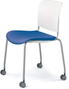 PLUS プラス フィトナ ミーティングチェア ミーティング室 会議椅子 会議用椅子 スタッキングチェア 打ち合わせ 会議用チェア ミーティングルーム 持ち運び 会議室 談話室 椅子 イス チェア chair スタッキング キャスター付き ライトブルー MB-F63SEH