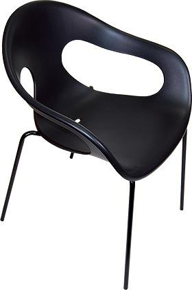 サニーカラー チェア チェアー 椅子 いす chair 屋外 屋内 カラフル インテリア おしゃれ 庭 ガーデン ウッドデッキ ベランダ コテージ リビング ダイニング カフェ レストラン 会議室 ミーティングルーム ユニーク デザイン 黒 ブラック SN-C