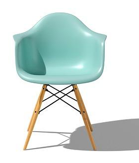 ハーマンミラー Hermanmiller イームズシェルアームチェア チェア 北欧 北欧家具 家具 ダイニングチェア ダイニング イス chair 木脚 リビングチェア リビング シンプル チェア おしゃれ インテリア リビングチェア リビング DAW 4T アクアスカイ