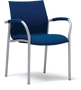 PLUS プラス ミーティングチェア チェア 会議用チェア 4本脚 スタンダード シンプル 会議室 ミーティングルーム ミーティング 会議 部屋 ルーム 打ち合わせ 肘つき 肘付き 椅子 いす イス chair スタッキング ダークブルー 青 MC-A20 MB-A24