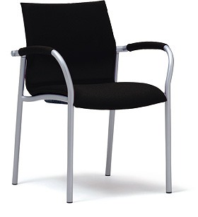 PLUS プラス ミーティングチェア チェア 会議用チェア 4本脚 スタンダード シンプル 会議室 ミーティングルーム ミーティング 会議 部屋 ルーム 打ち合わせ 肘つき 肘付き 椅子 いす イス chair スタッキング ブラック 黒 MC-A20 MB-A24