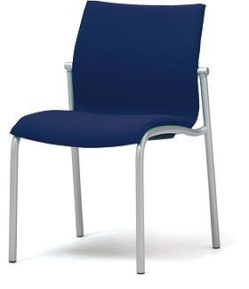 PLUS プラス ミーティングチェア チェア 会議用チェア 4本脚 スタンダード シンプル 会議室 ミーティングルーム ミーティング 会議 ルーム スペース 部屋 打ち合わせ 肘なし 椅子 いす イス スタッキング ダークブルー 青 MC-A20 MC-A22