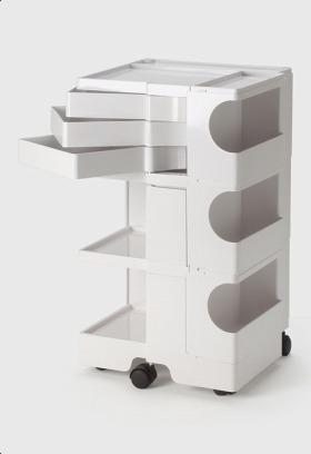 【2年保証正規品】ボビーワゴン BobyWagon ワゴン デザイナーズ キャビネット キャスター付き オフィス リビング 書斎 トレイ 収納 多機能 整理 整頓 大容量 ペン入れ ファイル すっきり プラスチック製 インテリア 3段 3トレイ ホワイト 白 B33