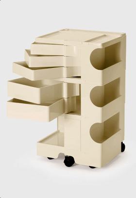 【2年保証正規品】ボビーワゴン BobyWagon ワゴン デザイナーズ キャビネット キャスター付き オフィス リビング 書斎 トレイ 収納 多機能 整理 整頓 大容量 ペン入れ ファイル すっきり プラスチック製 インテリア 3段 5トレイ ベージュ B35