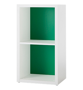 Garage ガラージ 収納庫 GR カラーボックス カラボ 収納ボックス 収納棚 収納ラック シェルフ 本棚 飾り棚 おしゃれ ラック オープン収納 収納 整理 整頓 片付け ボックス 大容量 選べる 隙間 組み替え 2段 パセリグリーン 緑 GR-0408