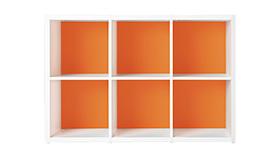 Garage ガラージ 収納庫 GR カラーボックス カラボ 収納ボックス 収納棚 収納ラック シェルフ 本棚 飾り棚 おしゃれ ラック オープン収納 収納 整理 整頓 片付け ボックス 大容量 選べる 隙間 組み替え 2段 3列 マンダリンオレンジ 橙 GR-1208