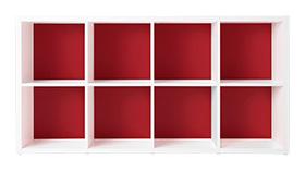 (訳ありセール 格安) Garage ガラージ 大容量 収納庫 GR 整頓 カラーボックス カラボ 収納ボックス 収納棚 収納ラック 収納庫 シェルフ 本棚 飾り棚 おしゃれ ラック オープン収納 収納 整理 整頓 片付け ボックス 大容量 選べる 隙間 組み替え 2段 4列 トマトレッド 赤 GR-1608, DANCE DEPOT:5df06cd4 --- canoncity.azurewebsites.net