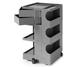 【2年保証正規品】ボビーワゴン BobyWagon ワゴン デザイナーズ キャビネット キャスター付き オフィス リビング 書斎 トレイ 収納 多機能 整理 大容量 ペン入れ ファイル すっきり プラスチック製 インテリア 3段 3トレイ
