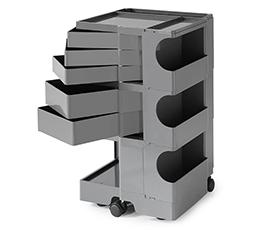 【2年保証正規品】ボビーワゴン BobyWagon ワゴン デザイナーズ キャビネット キャスター付き オフィス リビング 書斎 トレイ 収納 多機能 整理 大容量 ペン入れ ファイル すっきり プラスチック製 インテリア 3段 5トレイ