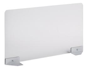 Garage ガラージ 目隠しパネル デスクパネル パネル サイドパネル スクリーン アクリル製 フロントパネル トップパネル パーテーション パーティション 集中 スペース プライバシー 目隠し 視線隠し 視線 幅125×奥行600×高さ360mm 半透明