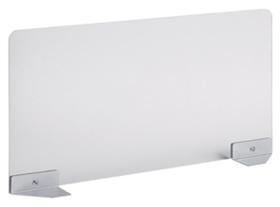 Garage ガラージ 目隠しパネル デスクパネル パネル サイドパネル スクリーン アクリル製 フロントパネル トップパネル パーテーション パーティション 集中 スペース プライバシー 目隠し 視線隠し 視線 幅125×奥行800×高さ360mm 半透明
