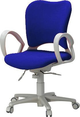 PLUS プラス オーバルチェア OCチェア パソコンチェア オフィスチェア デスクチェア 事務イス 学習チェア 椅子 イス チェア chair 前傾姿勢 キャスター付き 疲れにくい ループ肘付き ハイバック フローリング用キャスター
