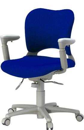 PLUS プラス オーバルチェア OCチェア パソコンチェア オフィスチェア デスクチェア 事務イス 学習チェア 椅子 イス チェア chair 前傾姿勢 キャスター付き 疲れにくい アジャスト肘付き ローバック フローリング用キャスター