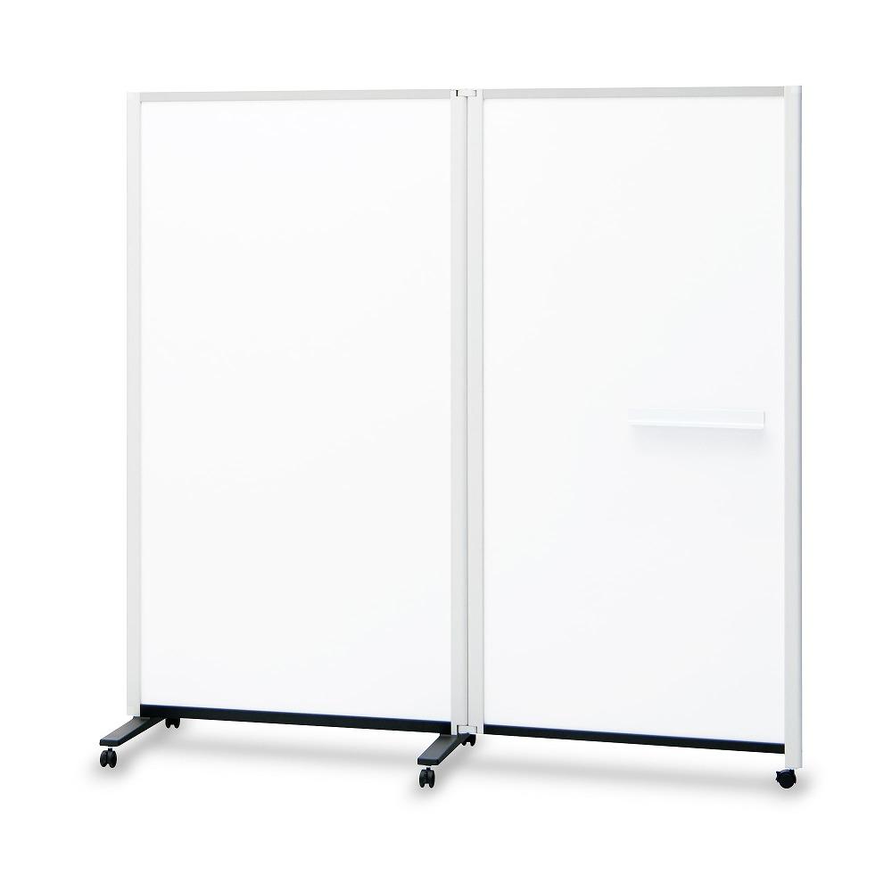 2連結パーティションホワイトボード ( ホワイトボード パーティションホワイトボード パーテーションホワイトボード ボード 脚付き 会議室 会議 ミーティングルーム フリースペース 2連 応接室 打ち合わせ 幅1800mm 幅180cm 高さ1800mm 高さ180cm )