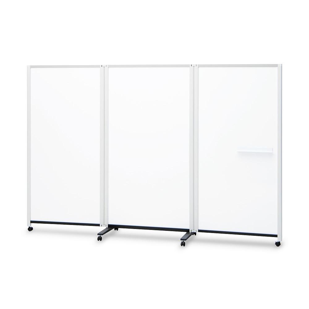 3連結パーティションホワイトボード ( ホワイトボード パーティションホワイトボード パーテーションホワイトボード ボード 脚付き 会議室 会議 ミーティングルーム フリースペース 3連 応接室 打ち合わせ 幅2700mm 幅270cm 高さ1800mm 高さ180cm )