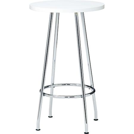 ミーティングテーブル ハイテーブル (PLUS プラス RT-2000 テーブル 机 バーテーブル 丸型 丸テーブル カウンターテーブル 高い 学食 社食 飲食店 店舗 フリースペース 休憩室 オフィス 立ちテーブル 高さ1000mm 高さ100cm )