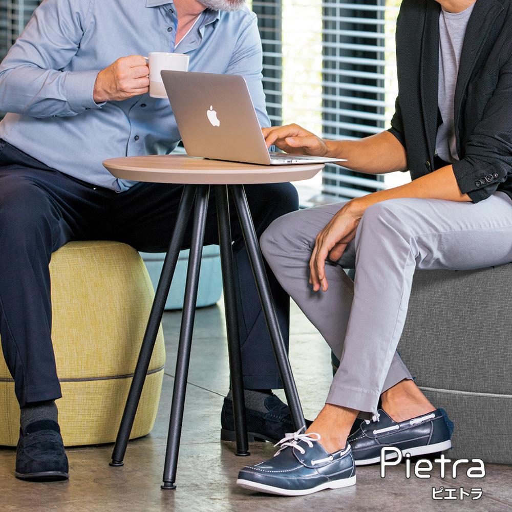 Pietra ピエトラ テーブル(サイドテーブル サイドデスク デスク 机 シンプル 木製 カフェ風 丸テーブル ラウンドテーブル 丸 ラウンド ソファテーブル ベッドサイドテーブル ナイトテーブル おしゃれ インテリア かわいい 木目柄)ET-PA45C