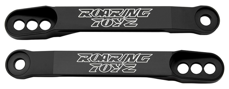 ローリングトイズ(Roaring Toyz)2006'-2016'ZX 14(ZZR1400)ローダウンリンク,ブラック2006'-2016'ZX 14(ZZR1400)Billet Lowering Links Black Anodized