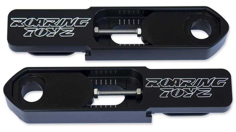 ローリングトイズ(Roaring Toyz)2007-2008 YZF-R1 スイングアームエクステンション,ブラック2007-2008 R1 Bolt-On Billet Swingarm Extensions Black Anodized