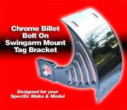 ローリングトイズ(Roaring Toyz)アクスルマウントナンバーブラケット,クロームChrome Plated Axle Mount License Plate Bracket