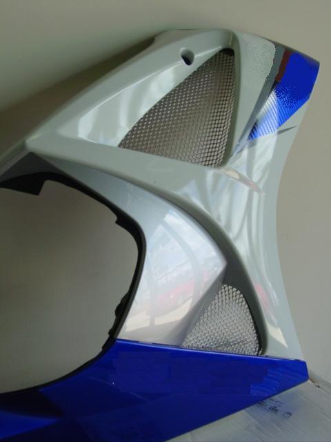 PPM カスタム(PPM Custom)2007-2008 GSXR 1000 フェアリングスクリーン,クローム2007-2008 GSXR 1000 Chrome Fairing Screens