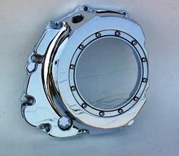 PPM カスタム(PPM Custom)GSX-R シースルークラッチカバー,クロームGSXR Chrome Billet See Thru Clutch Cover
