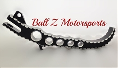ボールZ(BALL Z)ホールタイプショートキックスタンド,スカル,コントラストHayabusa Custom Black/Silver Hole Shot Ball Cut & Engraved Short Lowered Kickstand