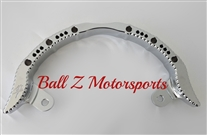 ボールZ(BALL Z)08'-UP GSX-1300R 隼ロゴスカルクロームグラブバーHayabusa Chrome Hole Shot Rear Passenger Grab Rail/Bar w/Engravings & Ball Cut Edges