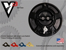 ボルテックス:VORTEXSUZUKI 3ホール用ガスキャップ,ブラックVortex Gas Cap 3Hole Black