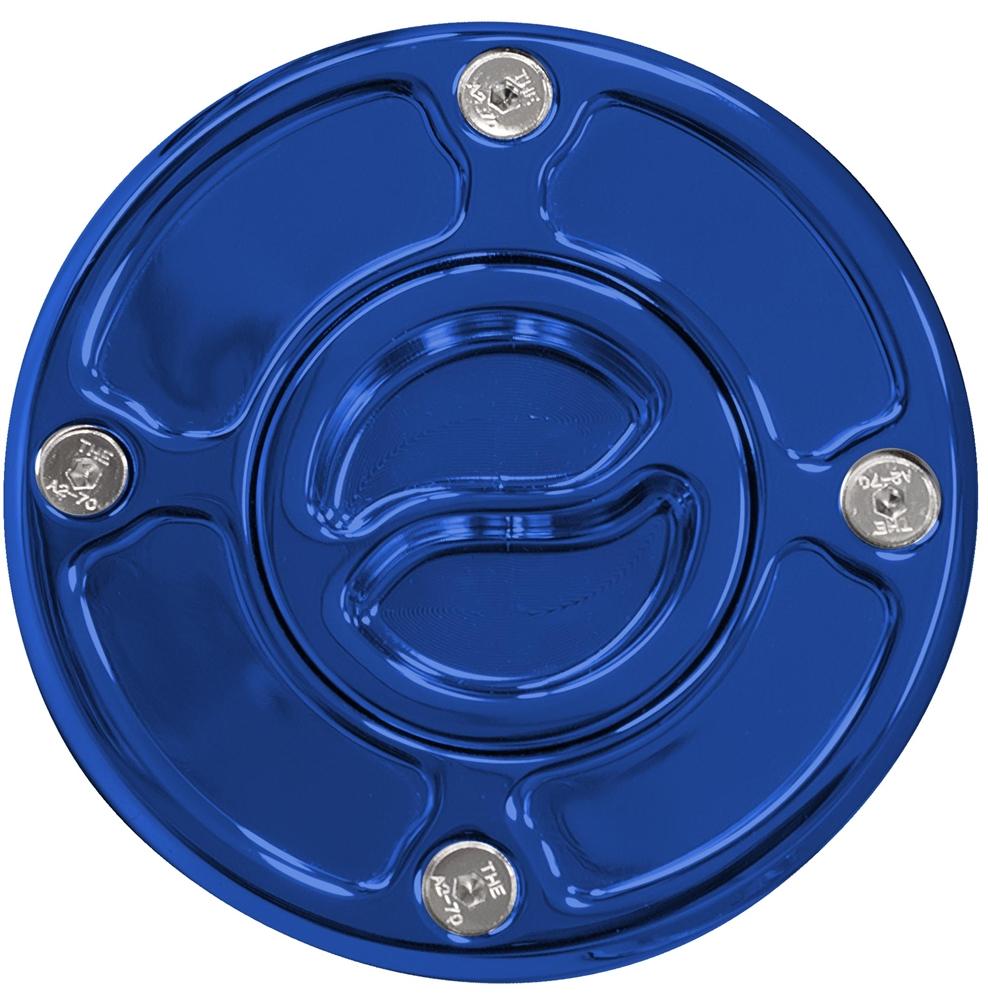 ヤナシキ:Yana ShikiSUZUKI 4ホール用ガスキャップ,ブルーSUZUKI Gas Cap Race style bolt #: 4 Blue