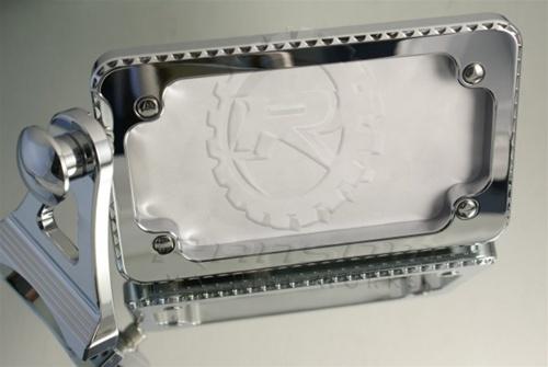 ランソムマシンワークス(Ransom Machine Works)GSX-1300R プレートホルダー,スカルHayabusa License Tag Mount with L.E.D. light (Chrome) (Scales)