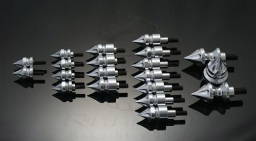 ランソムマシンワークス(Ransom Machine Works)08-UP GSX-1300R スパイクスボルトキット20P,クロームHayabusa 08-UP SPIKE KIT (20 PIECE) (CHROME)