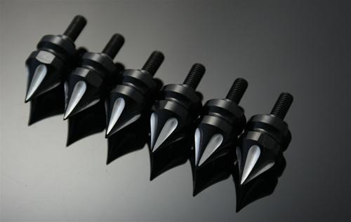 ランソムマシンワークス(Ransom Machine Works)GSX-1300R隼スモールフェアリングスパイクスボルトキット6P,コントラストカットHayabusaSmallFairingSpikeBolt(6PIECE) (Contrast)