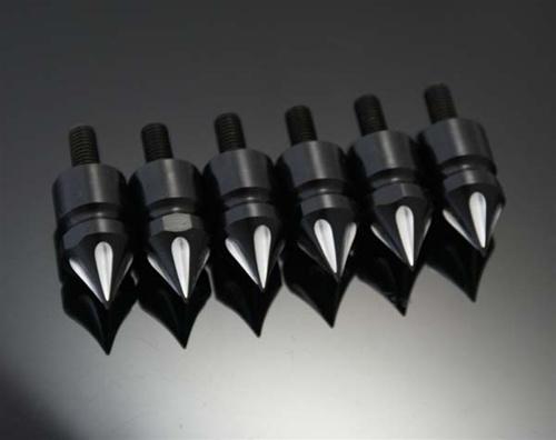 ランソムマシンワークス(Ransom Machine Works)ZX14フロントフェンダー&ロアーカウルスパイクスボルト,コントラスト6PZX14FrontFenderandLowerFairingSpikes(6pack)(Contrast)